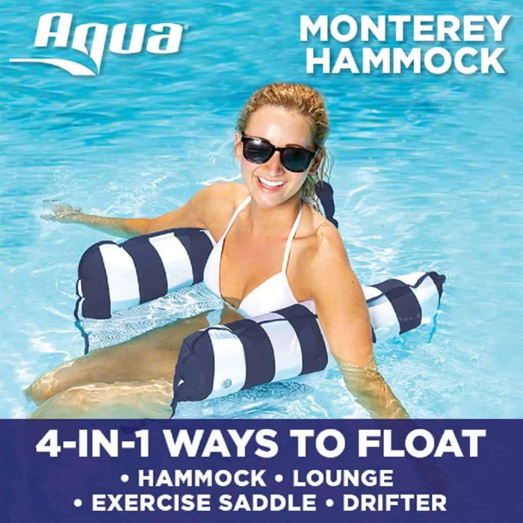 Best Pool Accessories For Your Summer Pool Party - Hammock Float - Lounge Float - Exercise Saddle and Drifter