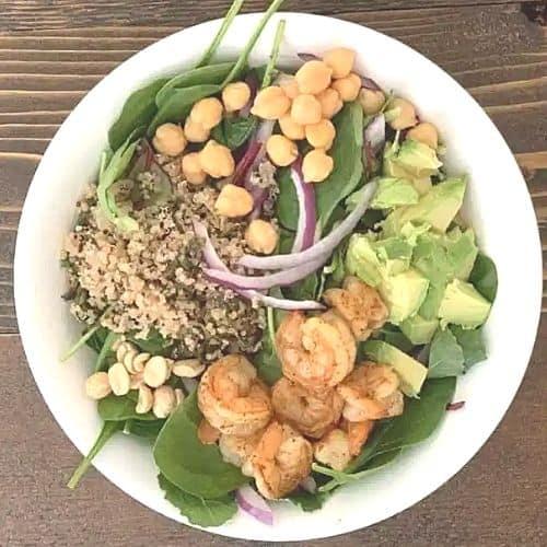 Shrimp Avocado Salad Lunch