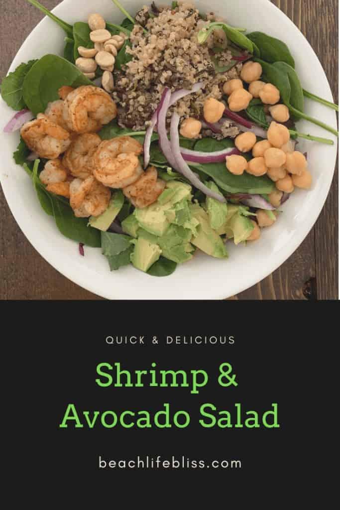 Quick and delicious shrimp avocado salad - healthy lunch meal
