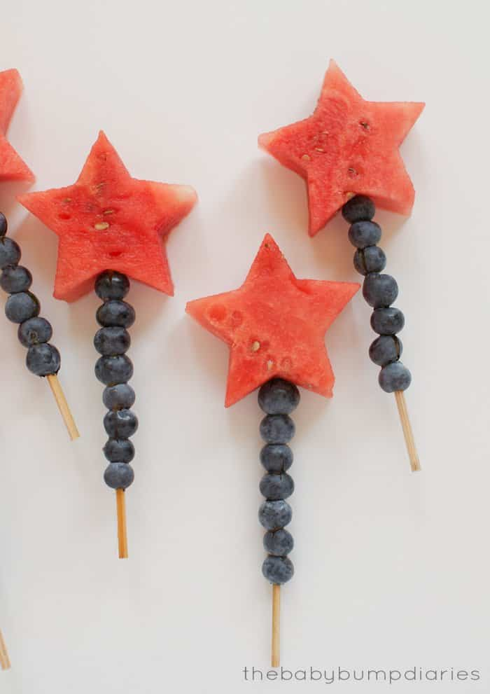 4th of July Appetizers - Fruit Kabobs