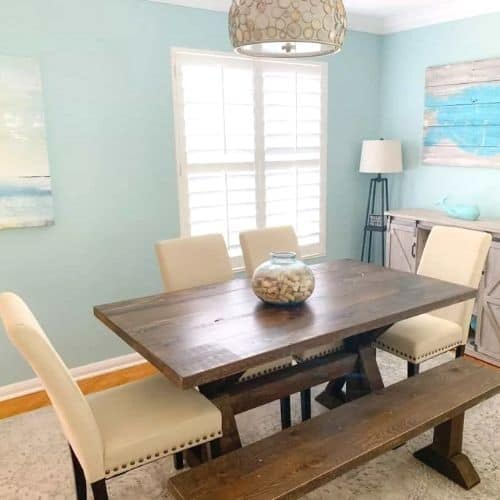 Blue Coastal Dining Room