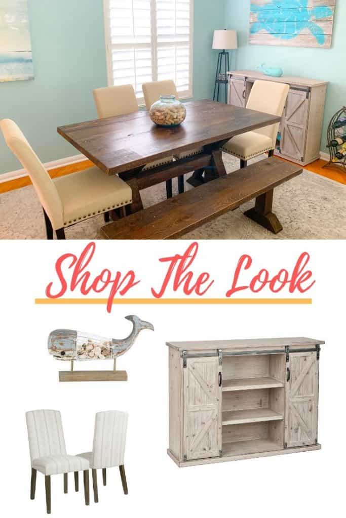 How To Create A Beach Style Dining Room - Coastal Blues Dining Room - SHOP THE LOOK