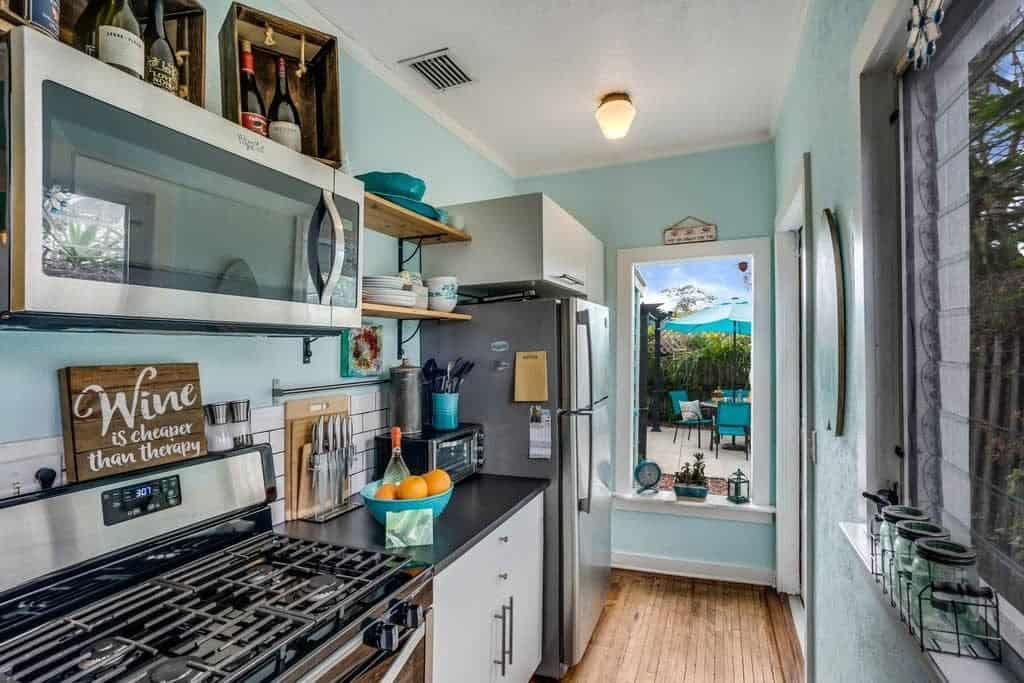 Beach House Kitchen Ideas - Small Galley Kitchen - Beach Home Tour Coastal Decor Ideas The Succulent House Lake Worth Beach