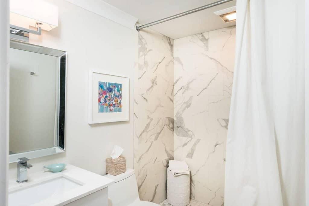 Modern Coastal Design Ideas - Beach House Bathroom Marble Shower