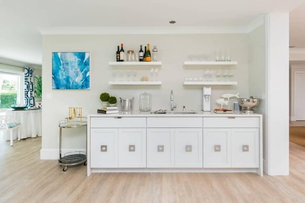 Modern Coastal Design Ideas - Beach House White Bar