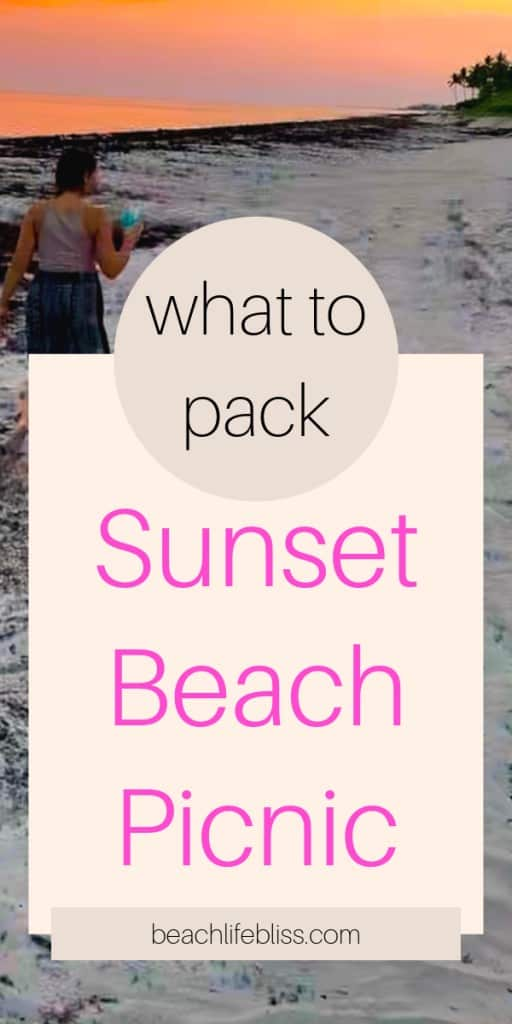 Sunset Beach Picnic Date night ideas what to pack