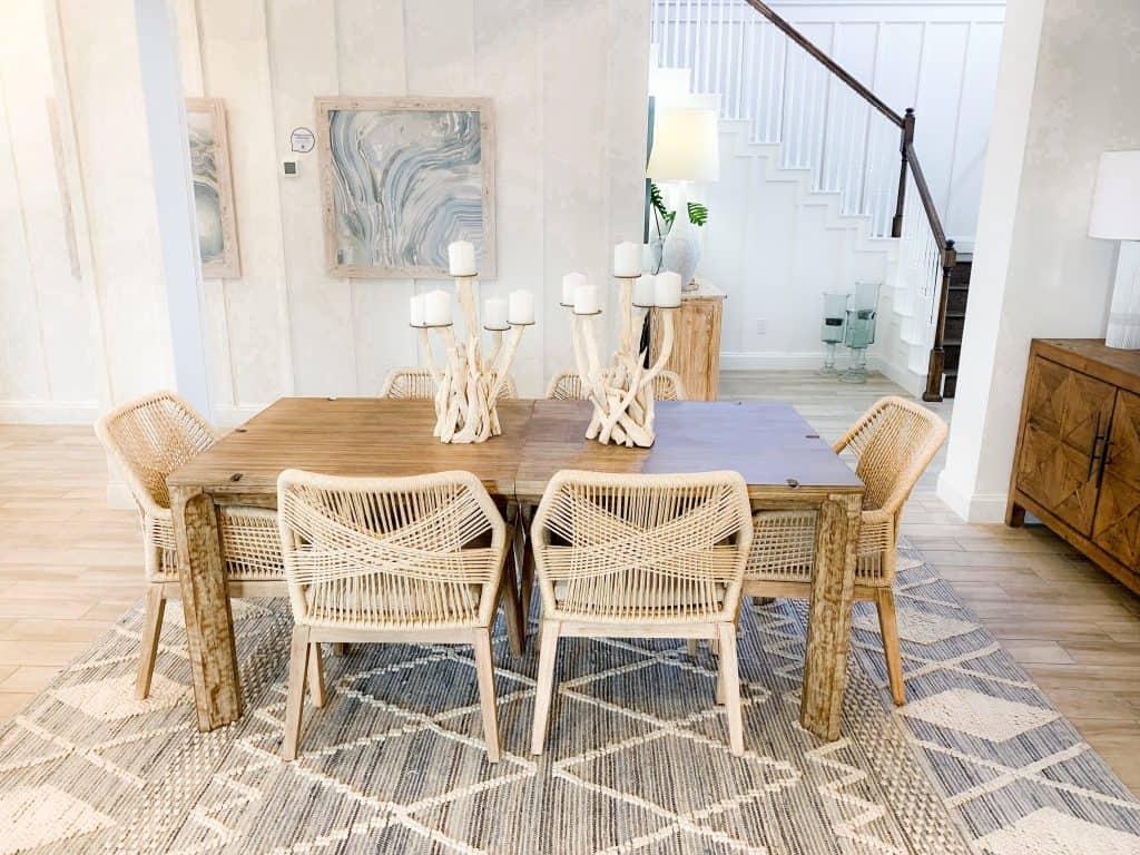 Beach Walk House Tour - Coastal Chic Design and Decor Ideas - Dining Area