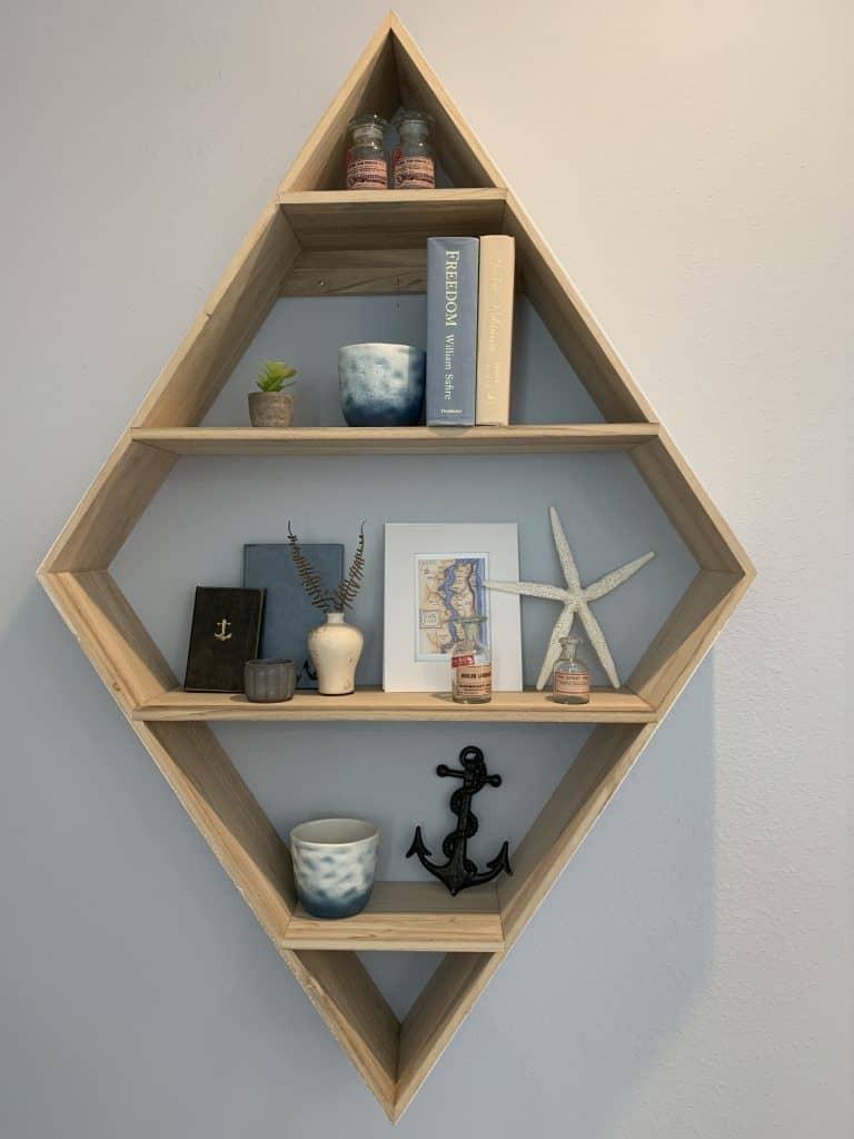 Beach Walk House Tour - Coastal Chic Design and Decor Ideas - Wood rectangle tiered shelf