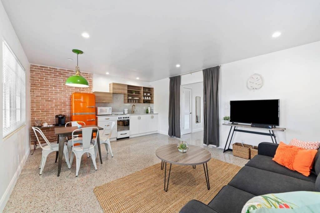 Orange Blossom Villa - Lake Worth Beach Airbnb Vacation Rental - Living Area