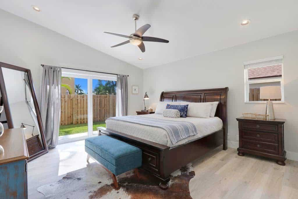 The Bent Palm Jupiter FL AirBnb Master Bedroom