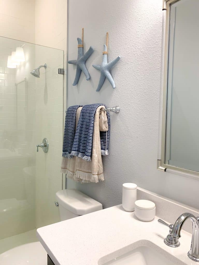Guest bathroom with starfish accents