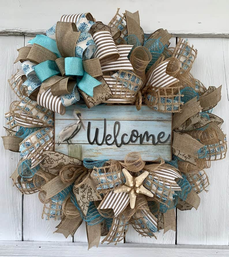 Coastal Thanksgiving Decor Ideas - Nautical Coastal Wreath