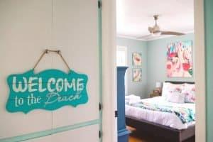 Flamingo Bedroom Welcome