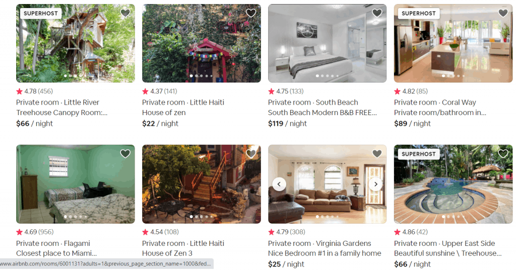 AirBnb Private Room Rentals Search To Make Money