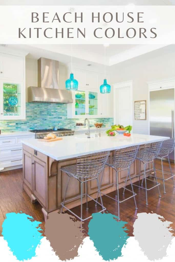 Beach House Kitchen Colors - Turquoise Color Pallet Ideas