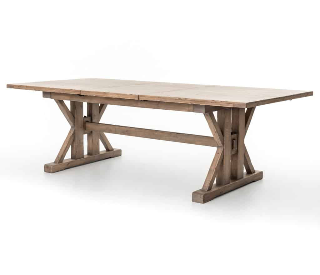 Tuscan Wood Farmhouse Table - Coastal Farmhouse Dining Table Ideas