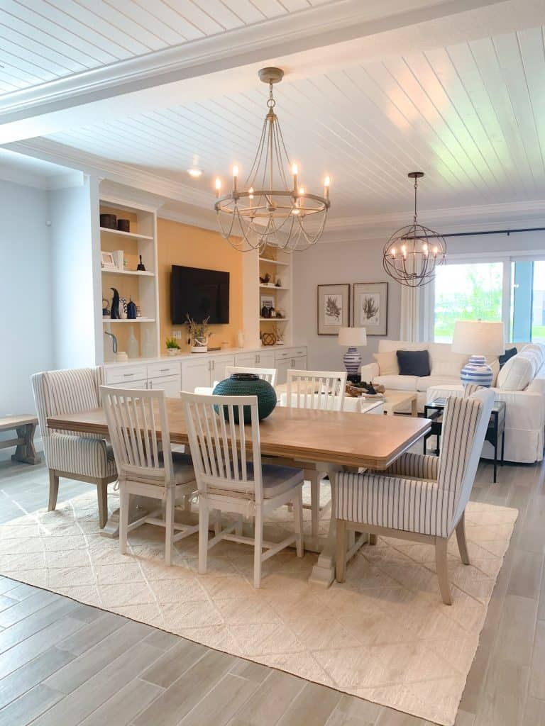Coastal Farmhouse Dining Room from model home in Ponte Vedra, Florida