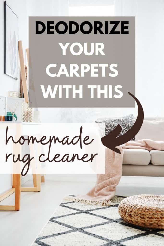 deodorize your carpets with this homemade rug cleaner