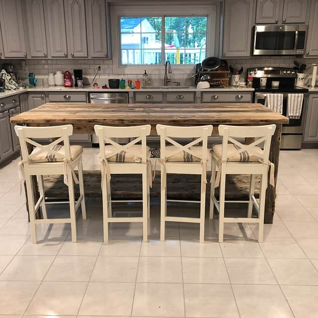 Driftwood Style Coastal Farmhouse Dining Table