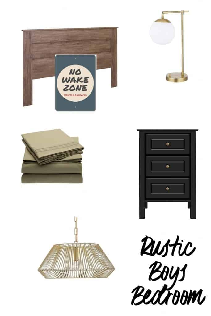 Rustic Boys Bedroom Look