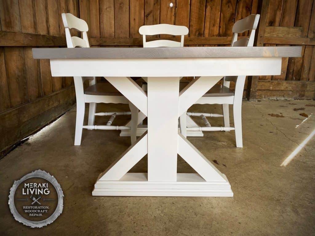 Custom Two Tone Farmhouse Table
