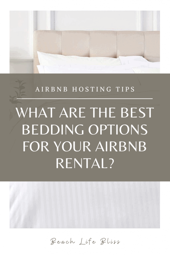 Best Bedding Options For Your AirBnb Pinterest Image