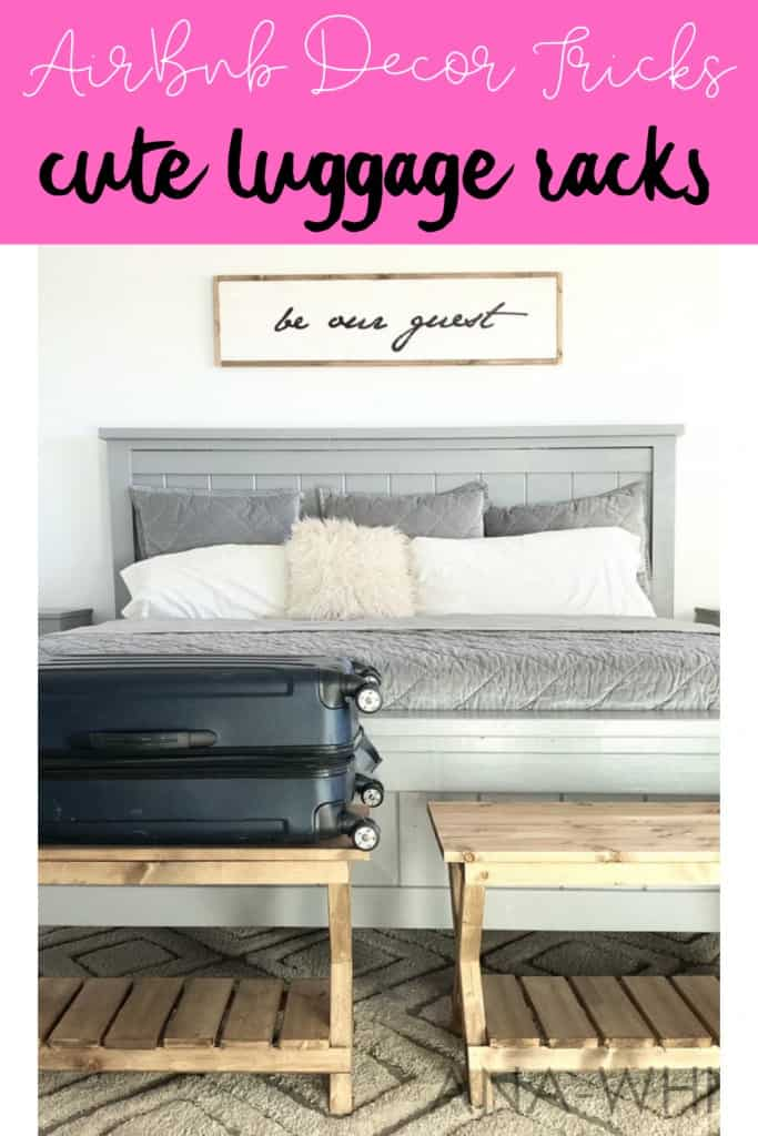 Use Cute Luggage Racks To Make Your Vacation Rental Stand Out From The Crowd