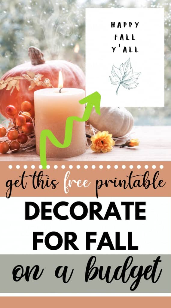Get This Free Printable - Decorate For Fall On A Budget