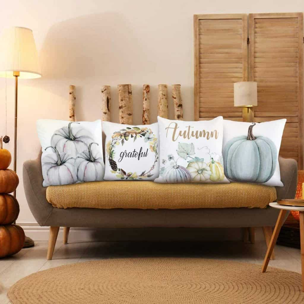 Neutral Blues Fall Pillow Cases For Under $25