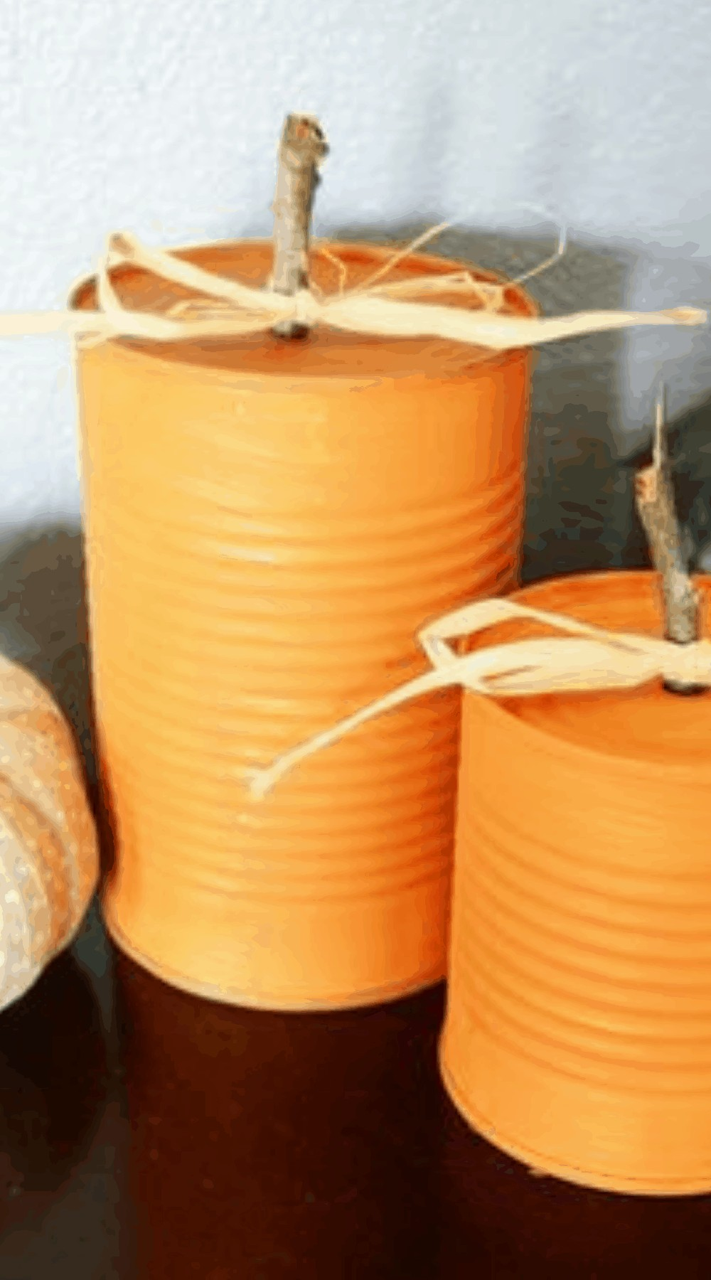 Create Your Own Tin Can Pumpkin - Our Favorite Budget Decorating Ideas For Fall