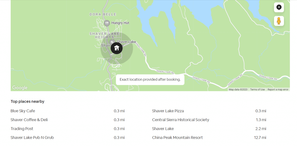 AirBnb in Shaver Lake California - Prime Location!