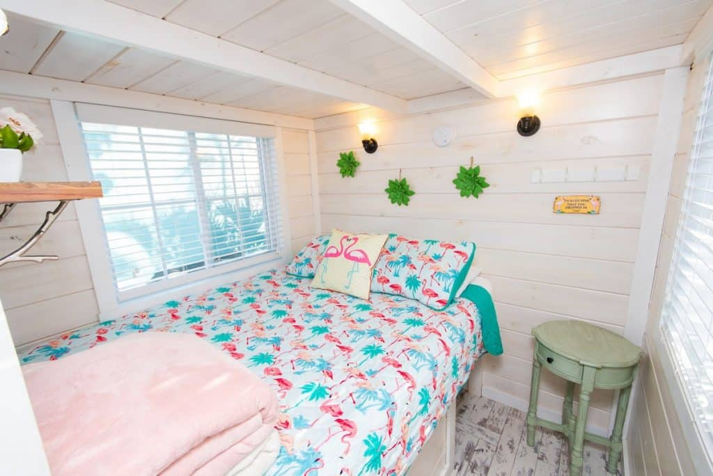 Flamingo Tiny House in Florida - Flamingo Bedroom
