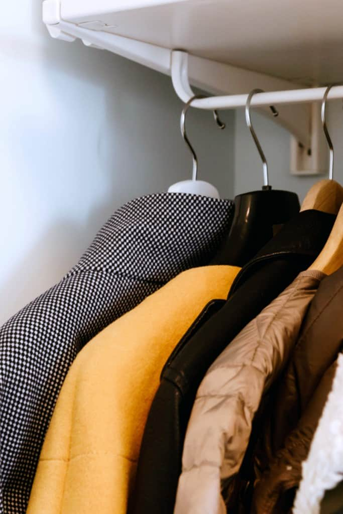 How To Prepare Your Home For Holiday Guests - Clear Closet Space For Luggage and Jackets