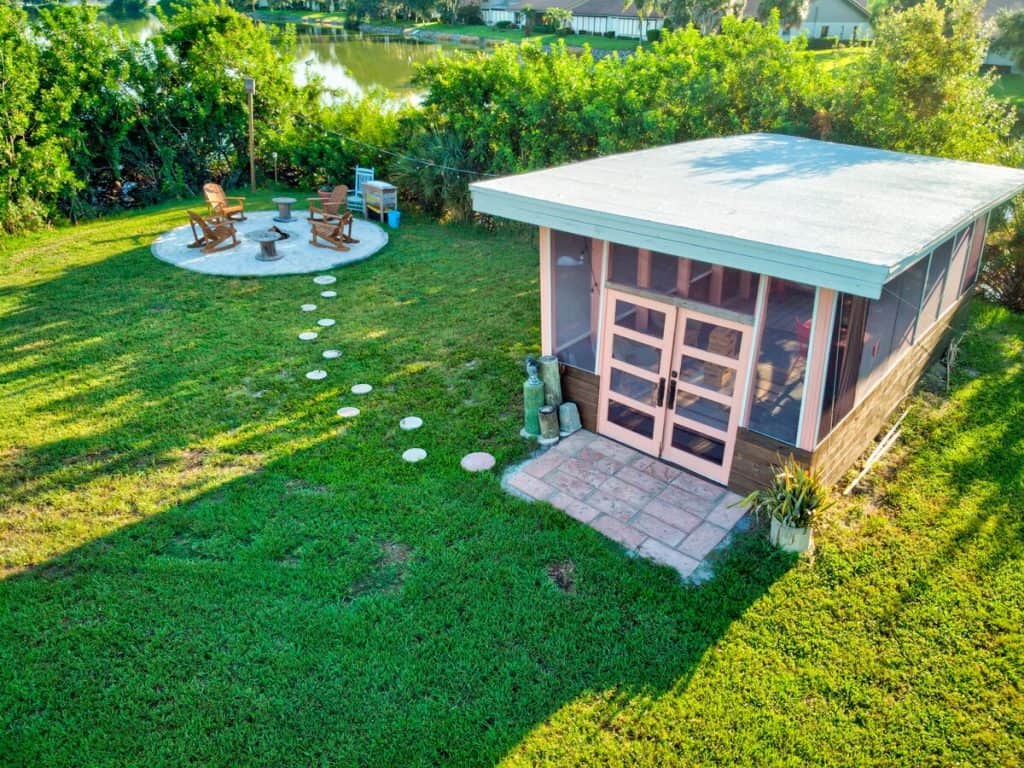 Tiny House on private island in Florida - Fire Pit Area