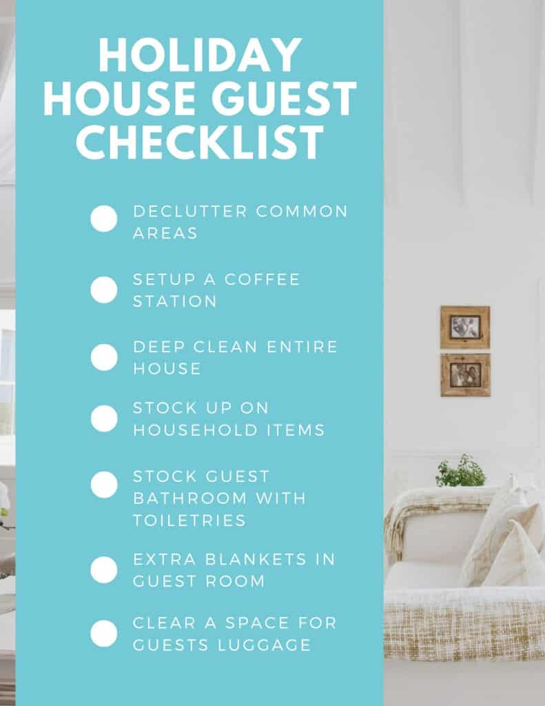 Checklist To Prepare For Holiday House Guests