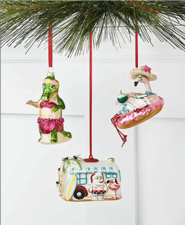 Florida Holiday Tropical Ornament Collection - Where To Find The Best Coastal Christmas Ornaments