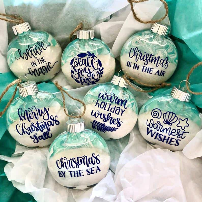 Personalized Coastal Christmas Ornaments from Milas Beach House