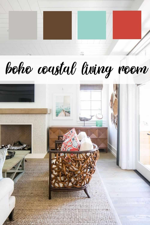 Boho coastal living room color pallet