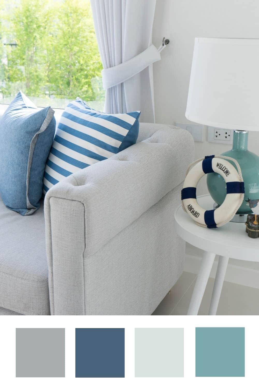 Living Room Color Scheme Ideas For A Fresh Coastal Look