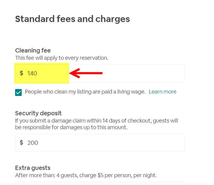 How To Add A Cleaning Fee To Your AirBnb Listing - Step by step