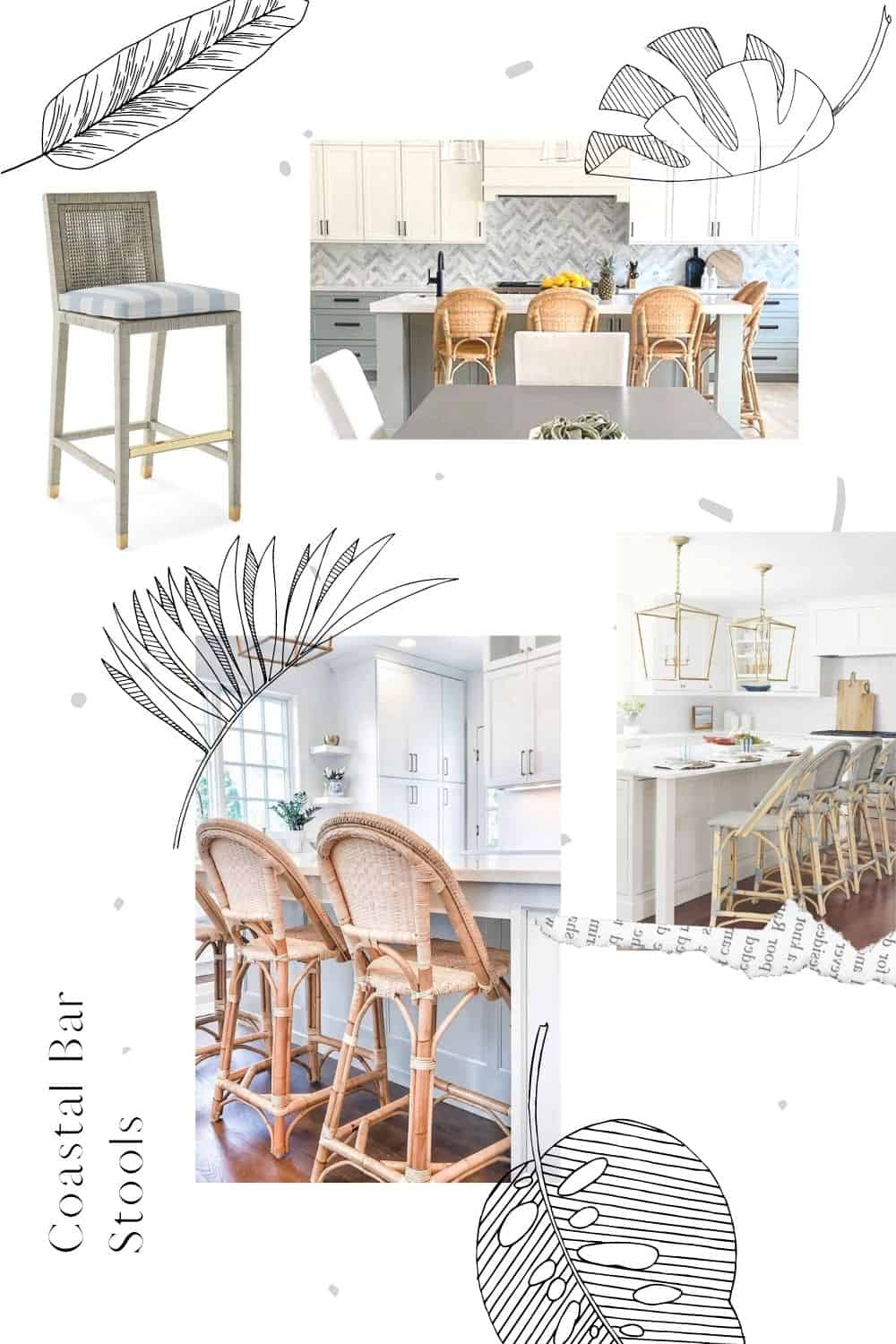 Coastal Bar Stools Mood Board With Design Ideas