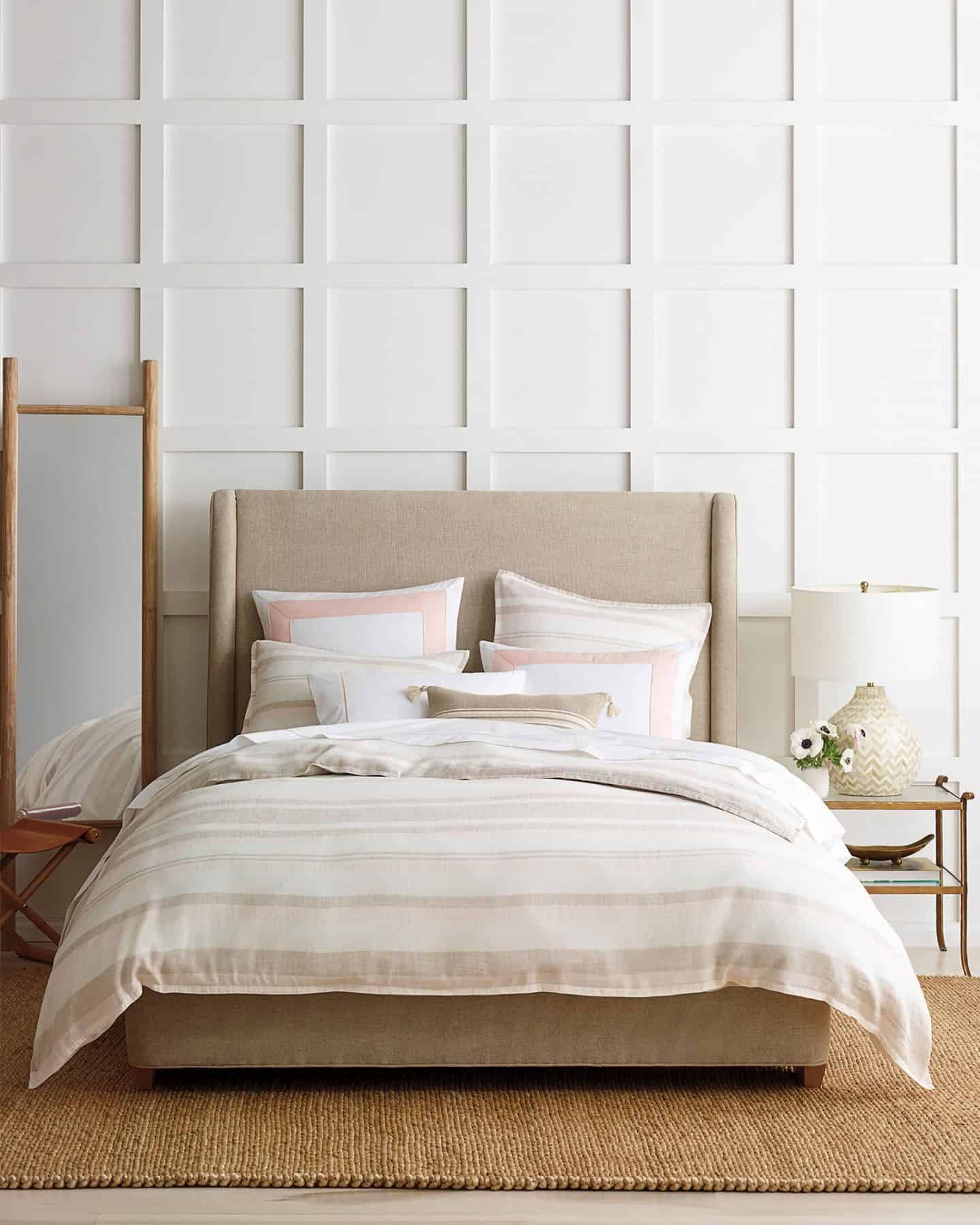 Serena and Lily White and Blush Pink Duvet