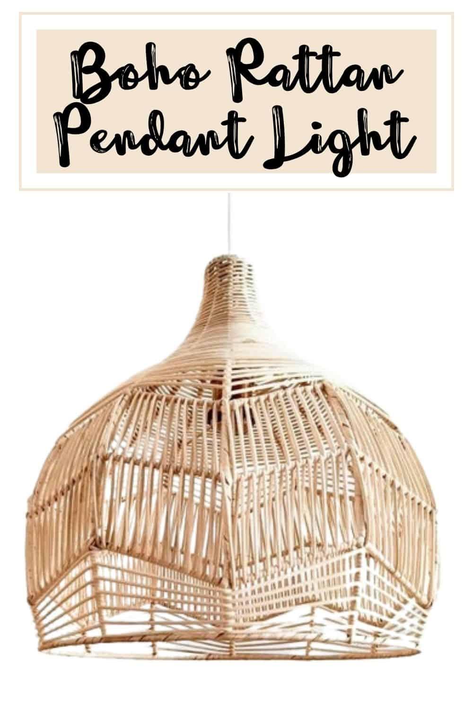 Boho Rattan Pendant Light