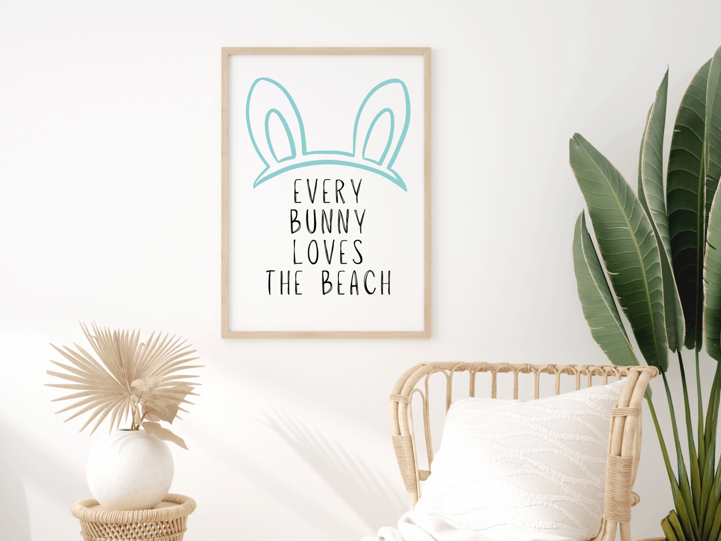 Every Bunny Loves The Beach Easter Print