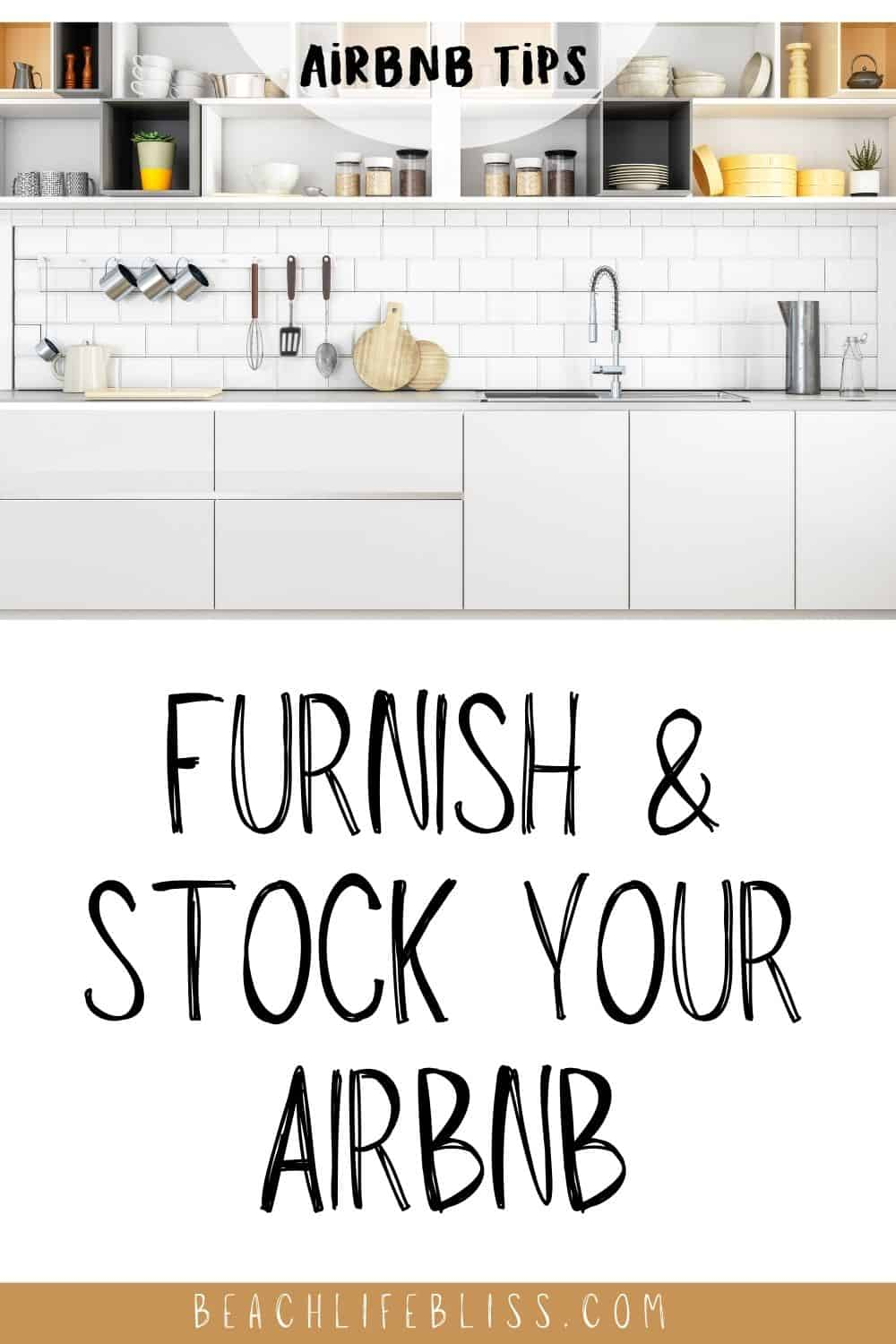 AirBnb Hosting Tips Furnish and Stock Your AirBnb