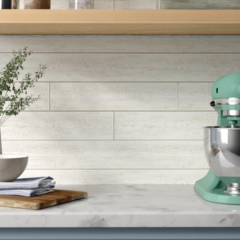 Shiplap backsplash kitchen