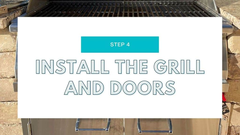 DIY Built In Grill Island Station Step 4