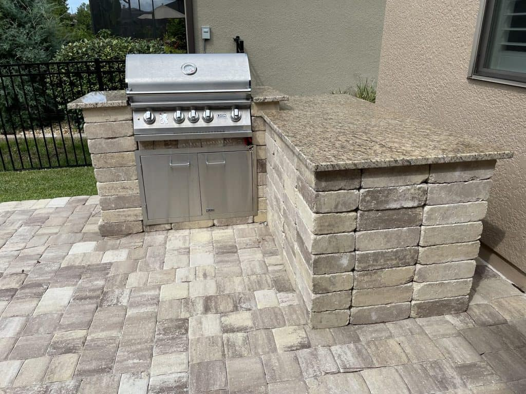 DIY Outdoor Grill Station Island