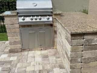 DIY Outdoor grill station countertop