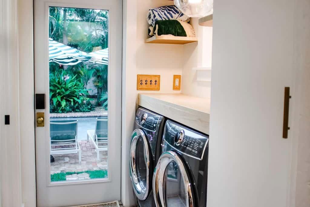 simple laundry mud room
